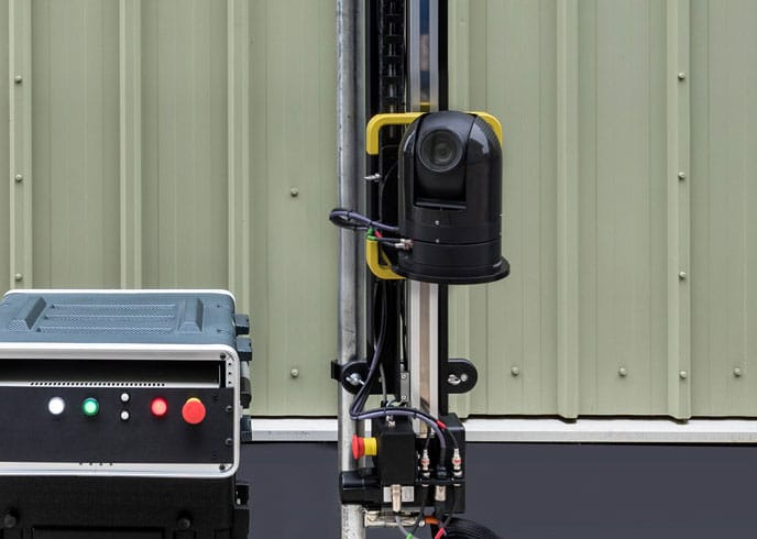 ARC360 for Video Equipment Rentals with integrated camera and linear track system