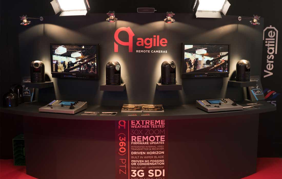 Agile Remote Cameras IBC stand